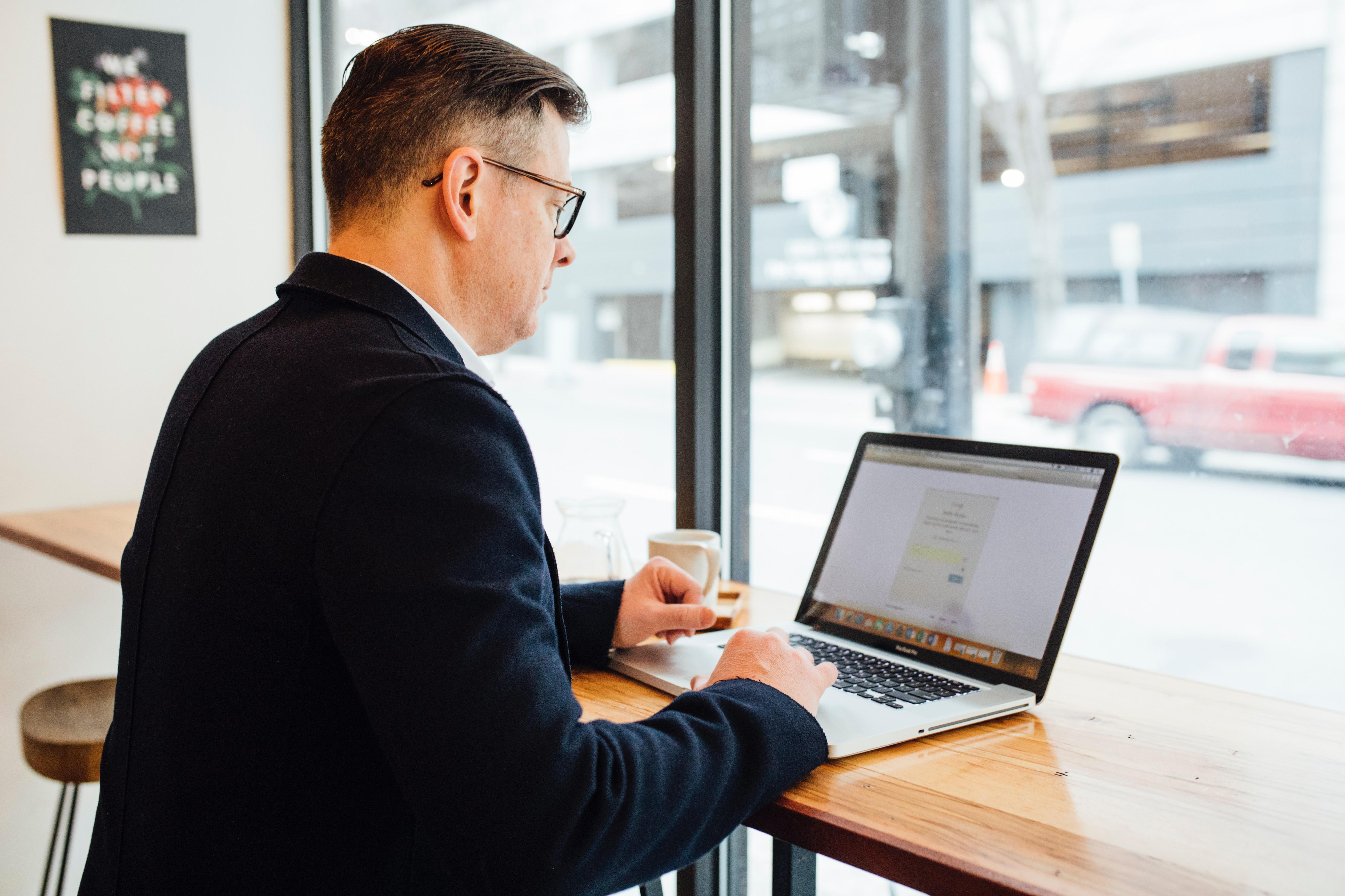 Adjusting laptop webcam for interview